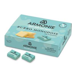 burro monodose armonie scatola da 800g di 100 burrini da 8g